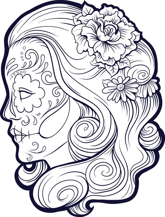 100 Imgenes de Catrinas Mexicanas  Maquillaje  Cholas  Catrinas10