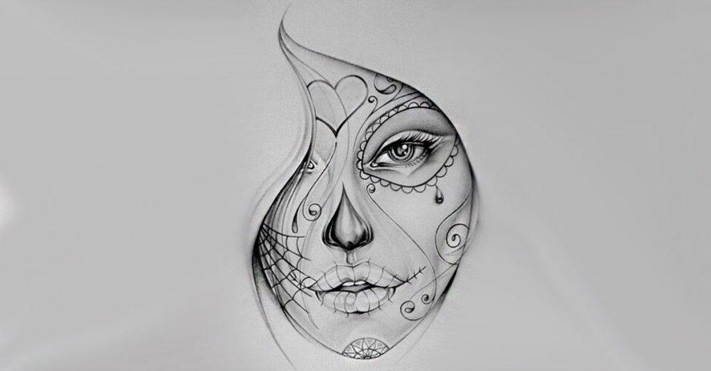50 Diseños de Catrinas y Bocetos para Tatuajes de